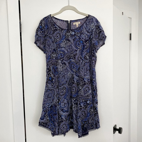 Paisley Blue Dress | Urban Outfitters